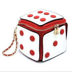 Handbags - Red dice crossbody bag clutch wristlet